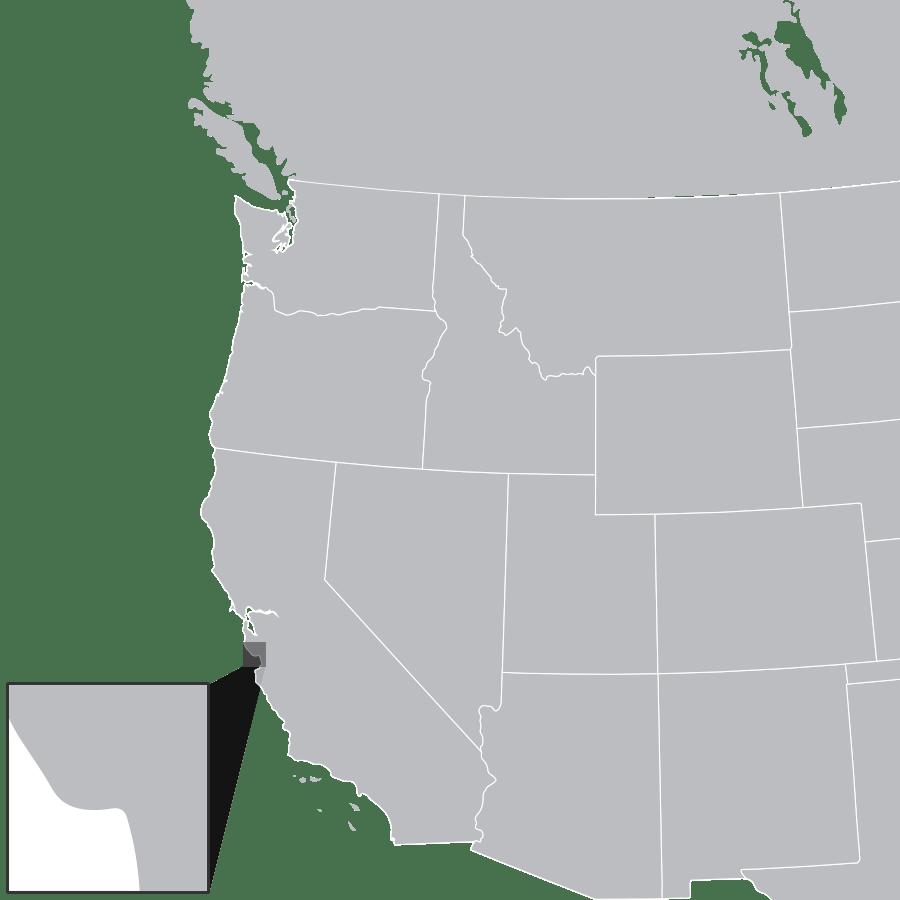 West Coast North America Map