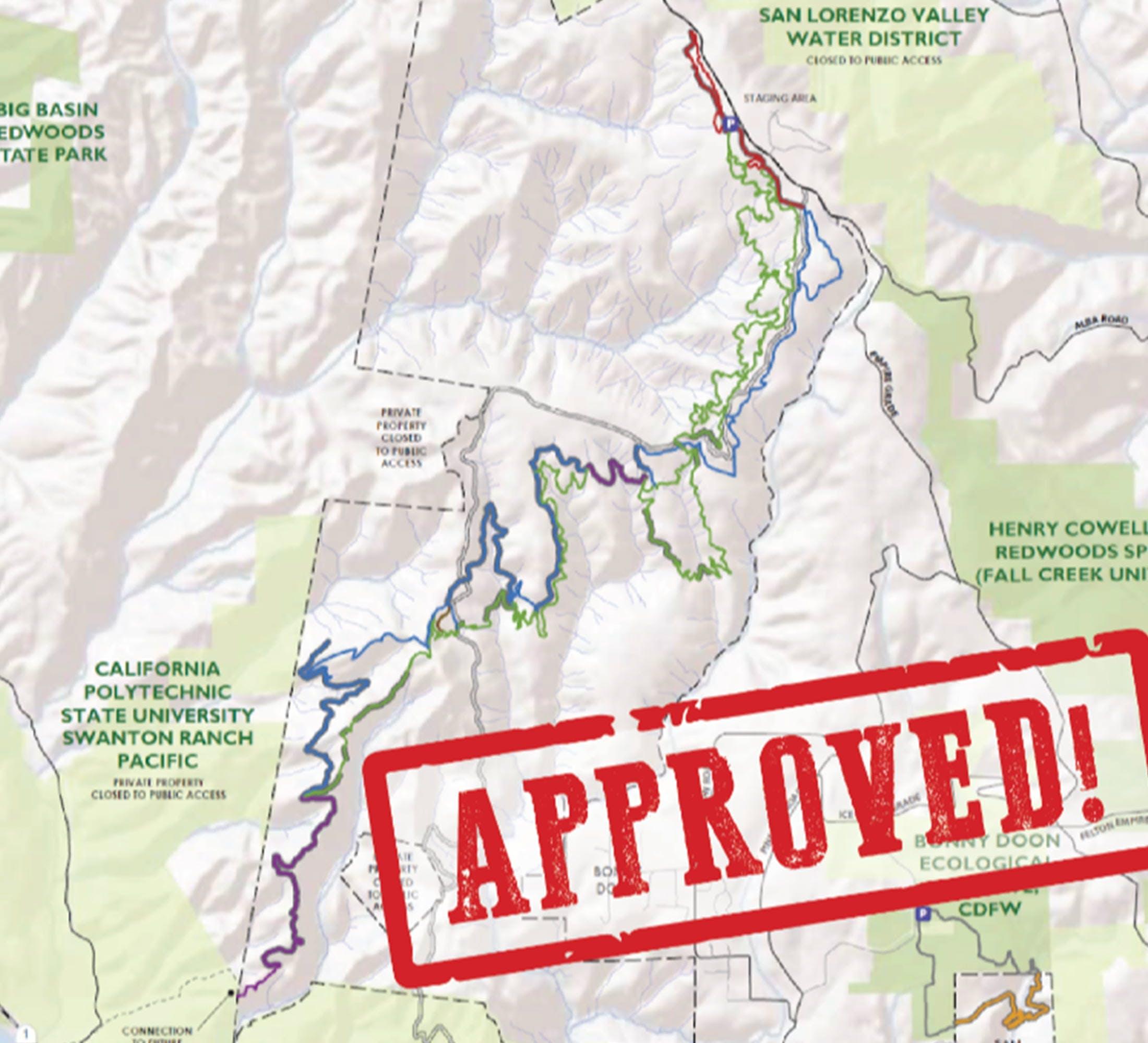 San Vincente Redwoods Trails - PayDirt Approval