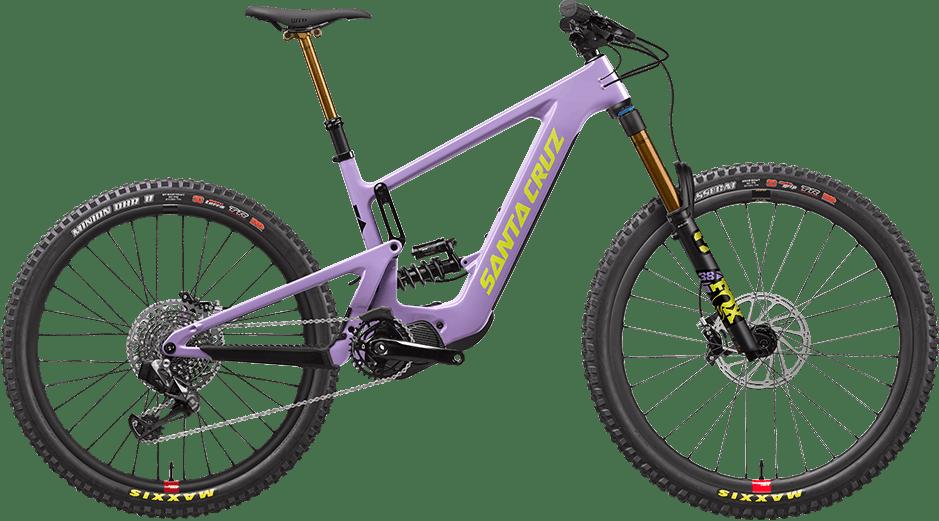 Santa Cruz Bullit eibke in purple with Reserve carbon wheels