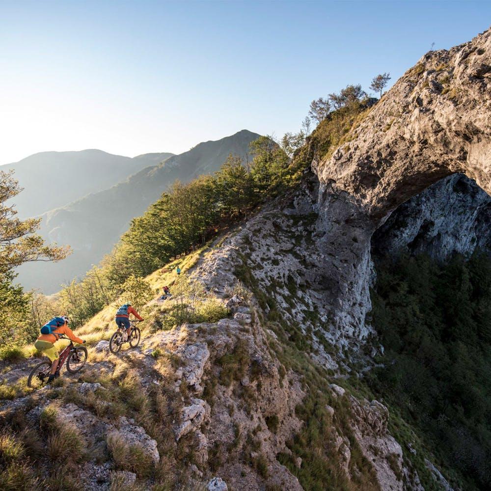 RIdgeline - Paydirt Grantee - Two Mountain Bikers in Tuscany