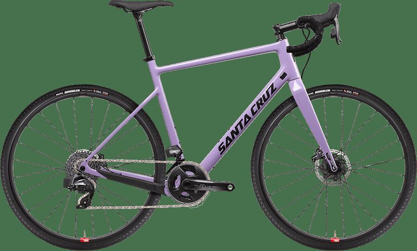 2022 Stigmata hardtail gravel bike in purple with Reserve carbon wheels