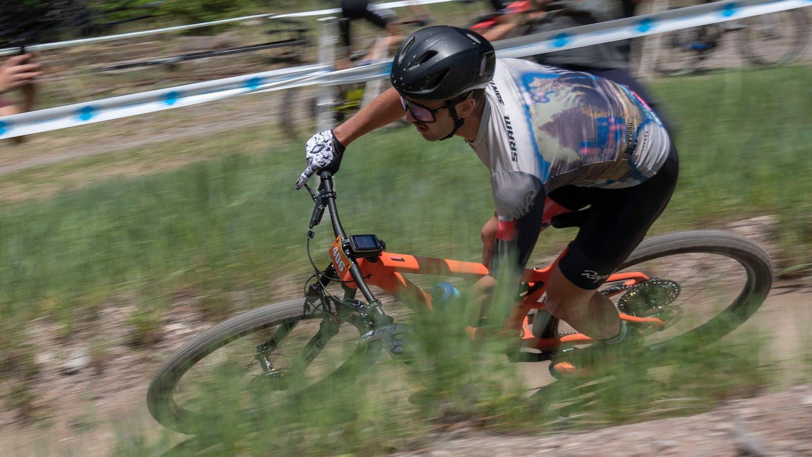 Tobin O. racing XC in Montana