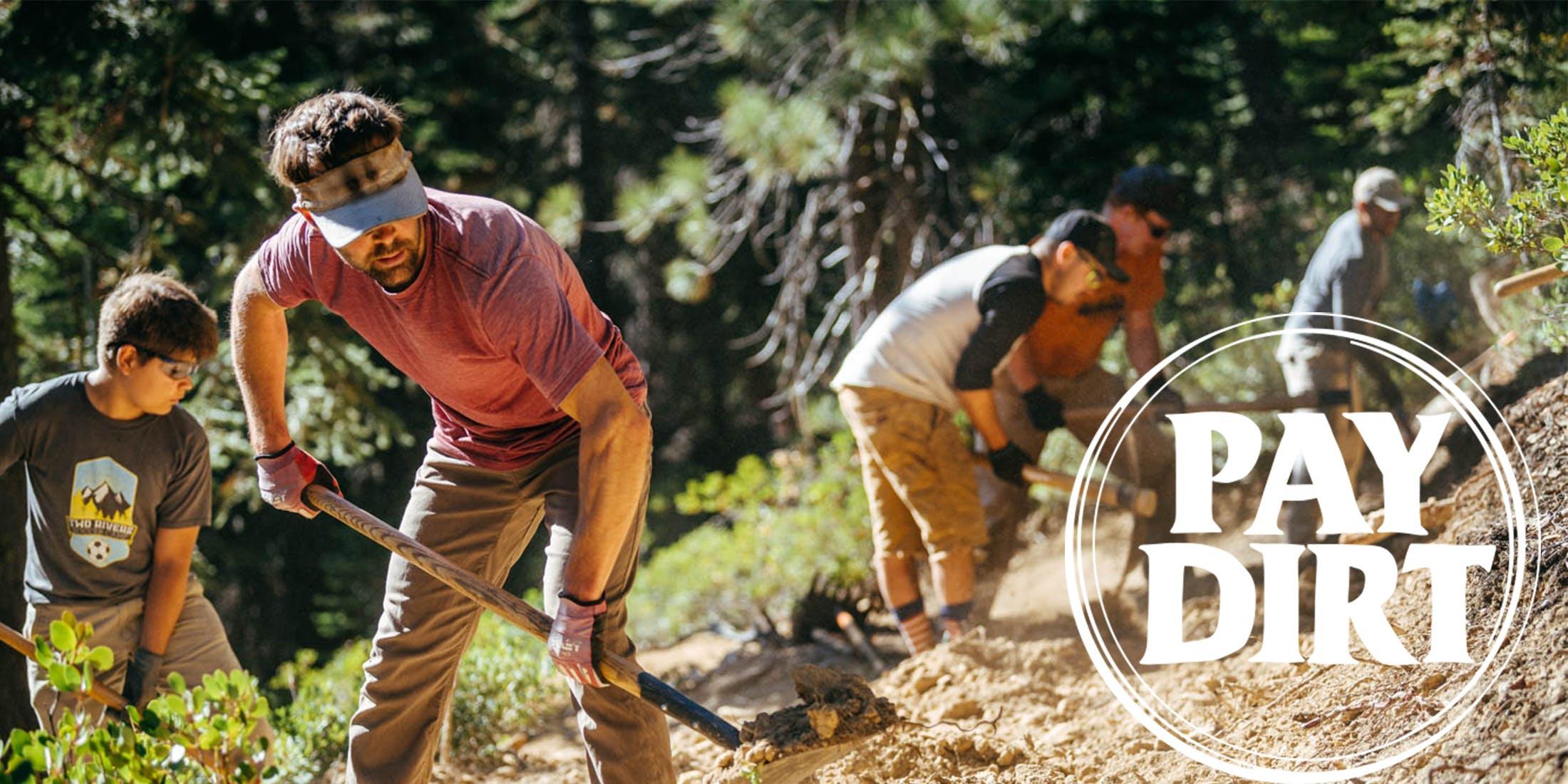The Sierra Buttes Trail Stewardship digging trail