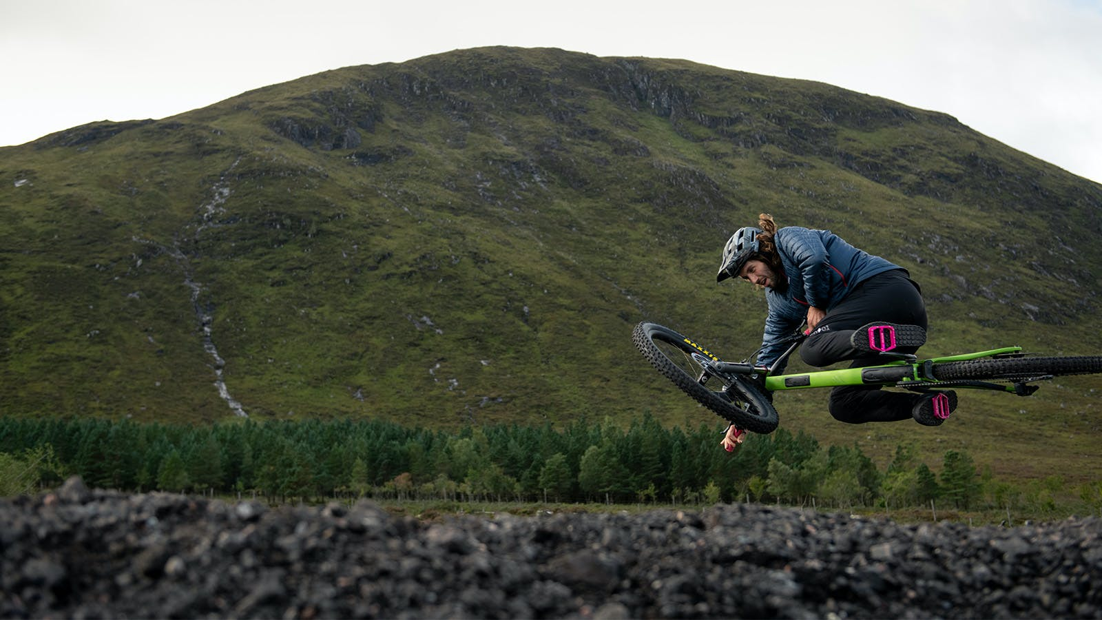 Free Agent rider Sam Dale jumping his Nomad