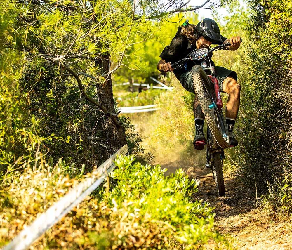 Craig Evans riding his Megatower mountain bike
