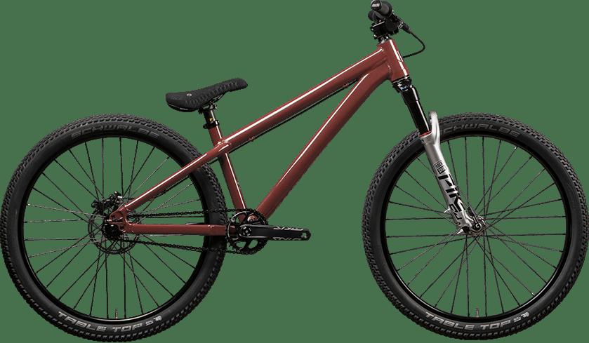 2022 Jackal dirt jumper hardtail in red