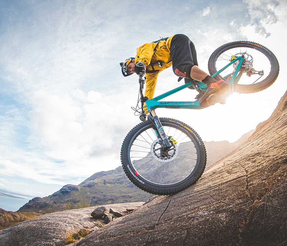 Danny MacAskill riding The Slabs on his 2021 5010