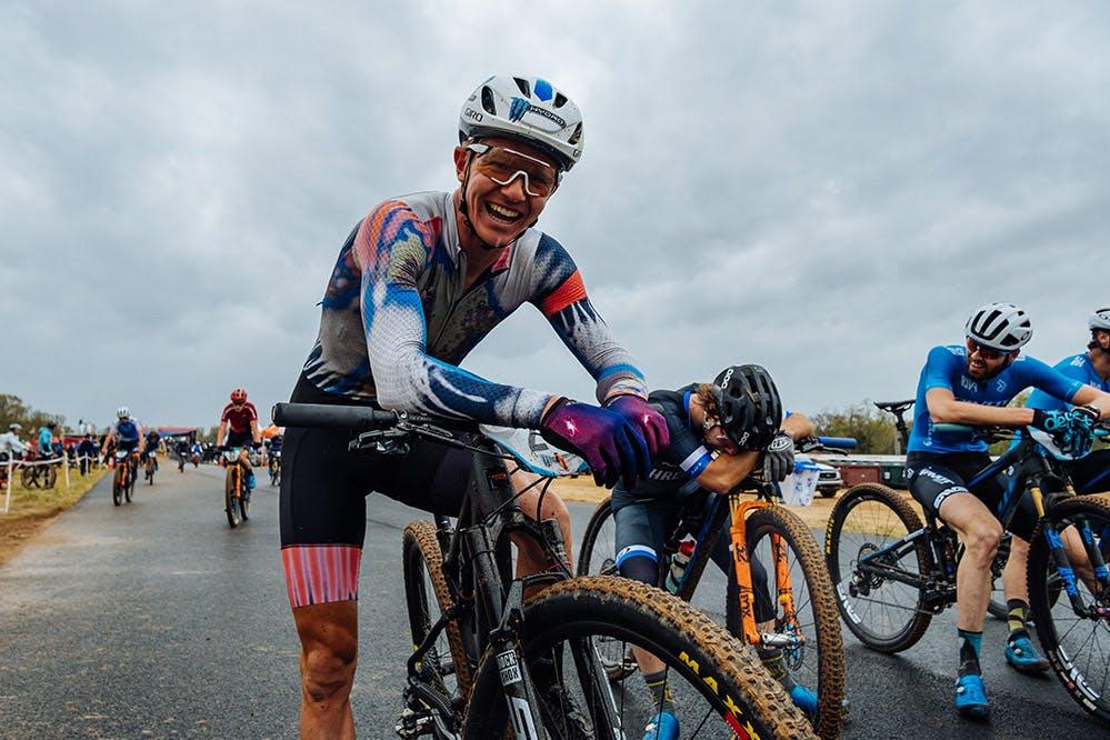 Keegan Swenson smiling on his 2022 Blur