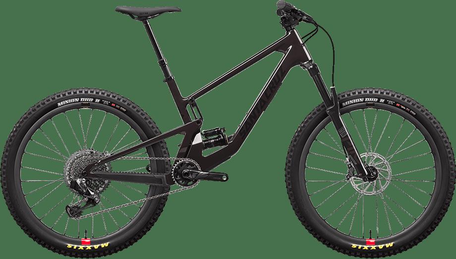 5010 CC X01 AXS in Stormbringer purple on Reserve carbon wheels