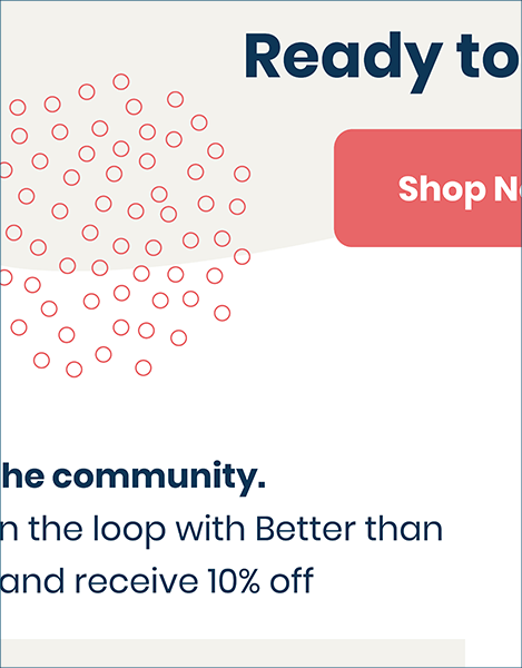 cropped section of better than belts website