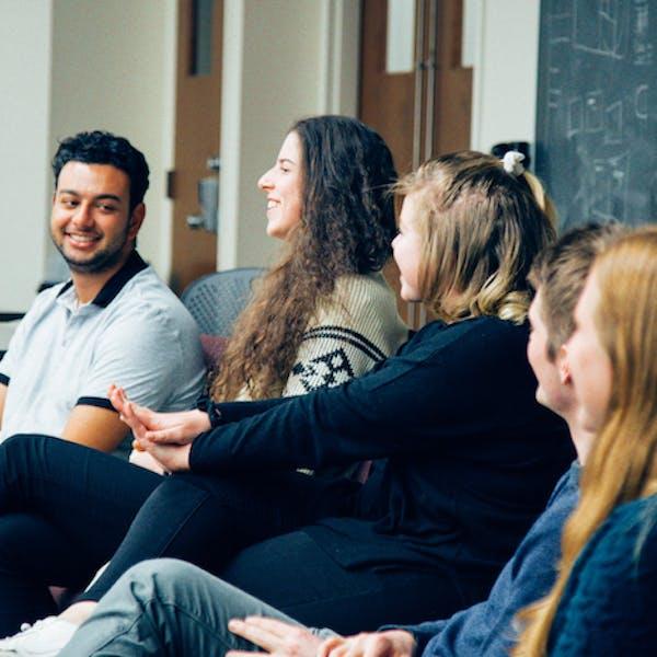 Alumni panel talks to current students