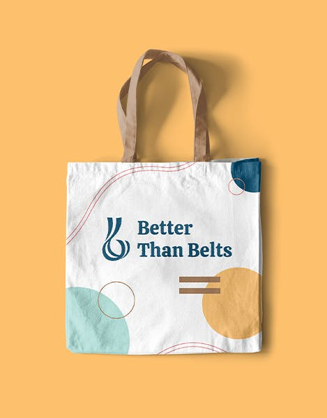 better than belts tote bag