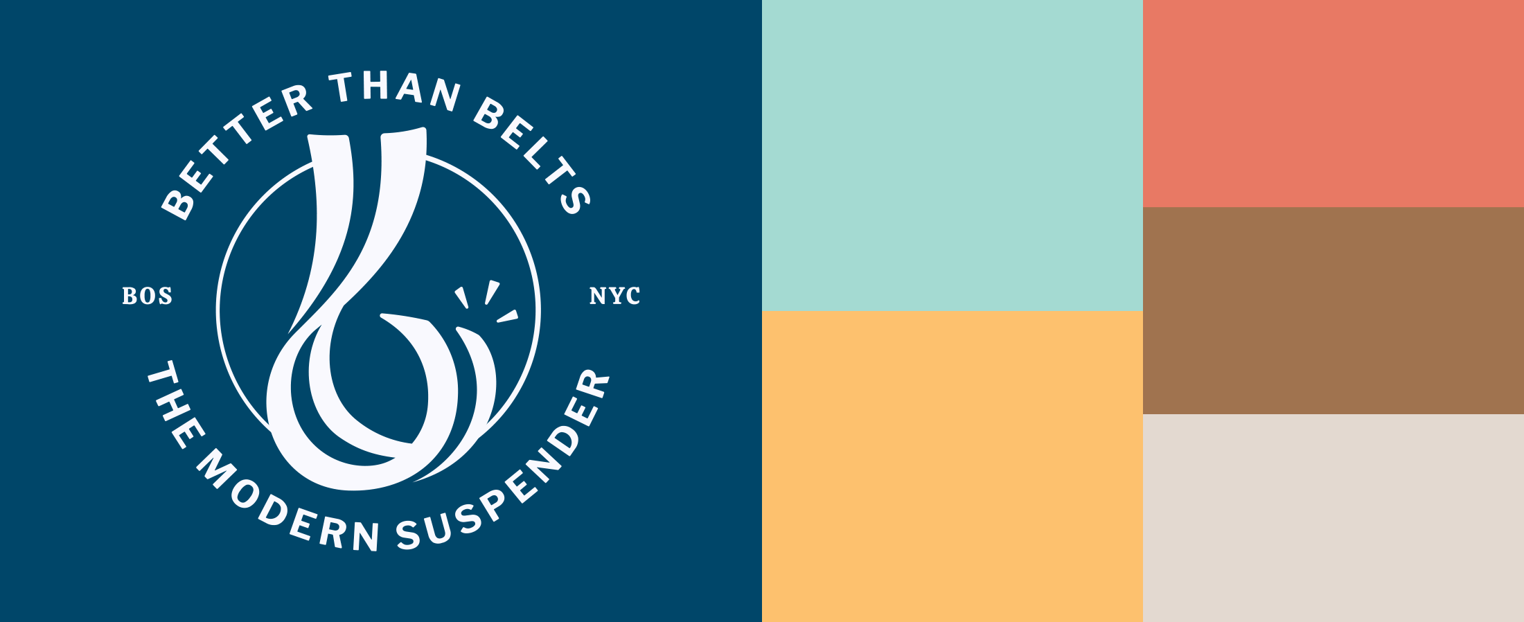 better than belts color palette and logo