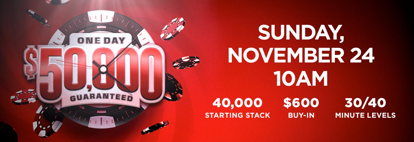 One Day $50,000 Guaranteed Tournament