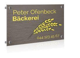 VORLAGE BÄCKEREI FIRMENSCHILD BUTLERFINISH QUER, AB 30 X 20 CM
