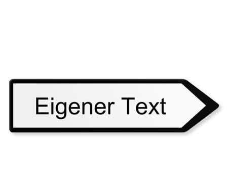 EIGENER TEXT WEGWEISER RECHTS