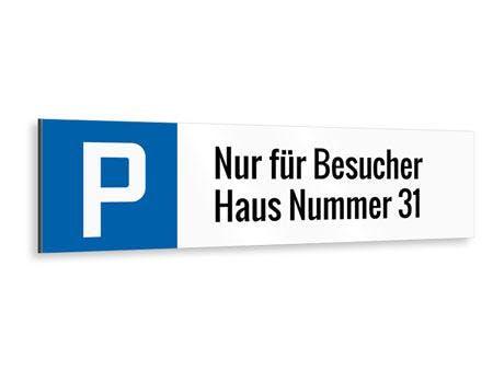 BESUCHER HAUSNUMMER PARKPLATZSCHILD LANGFORMAT