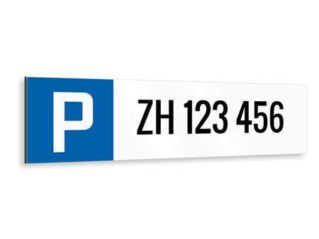 AUTONUMMER PARKPLATZ PARKPLATZSCHILD LANGFORMAT