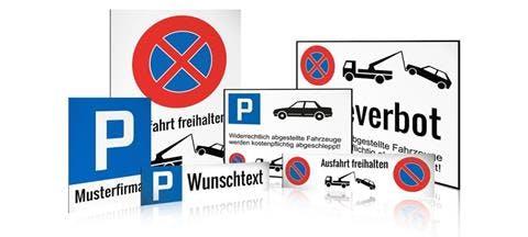 Parkplatz Schilder