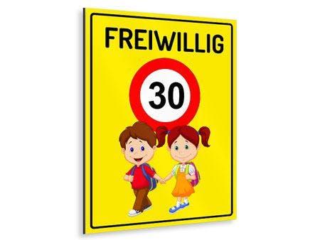 KINDER FREIWILLIG 30 GELB KINDERSCHILD HOCHFORMAT