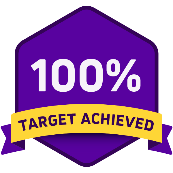 100% fundraising target achieved