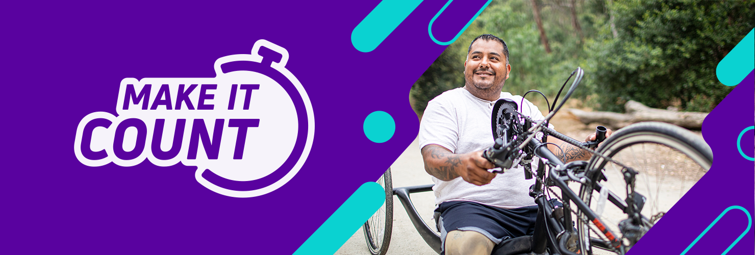 Scope Make It Count - disability in sport header banner