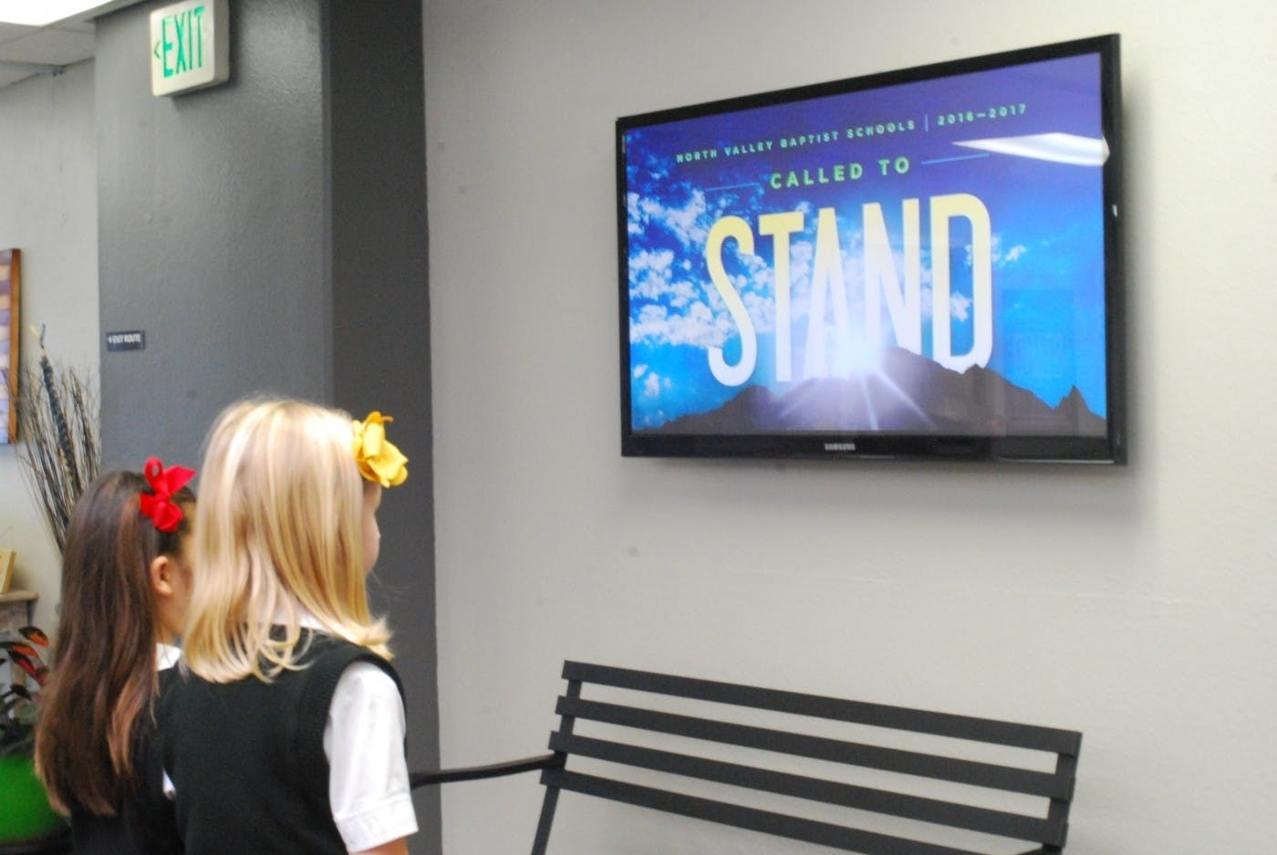 North Valley Baptist Schools Use Digital Signage to Inform and Educate the Student Body