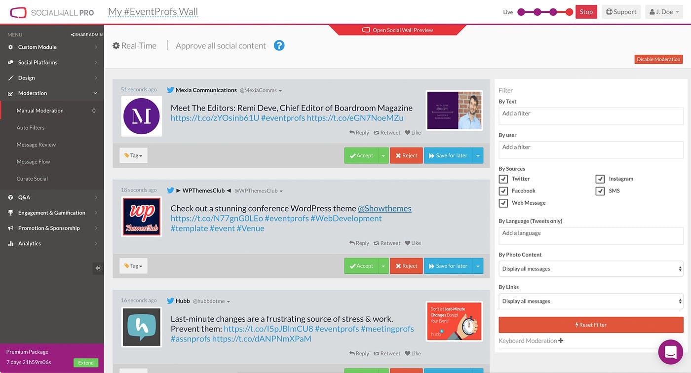 ScreenCloud SocialWall Pro App Guide