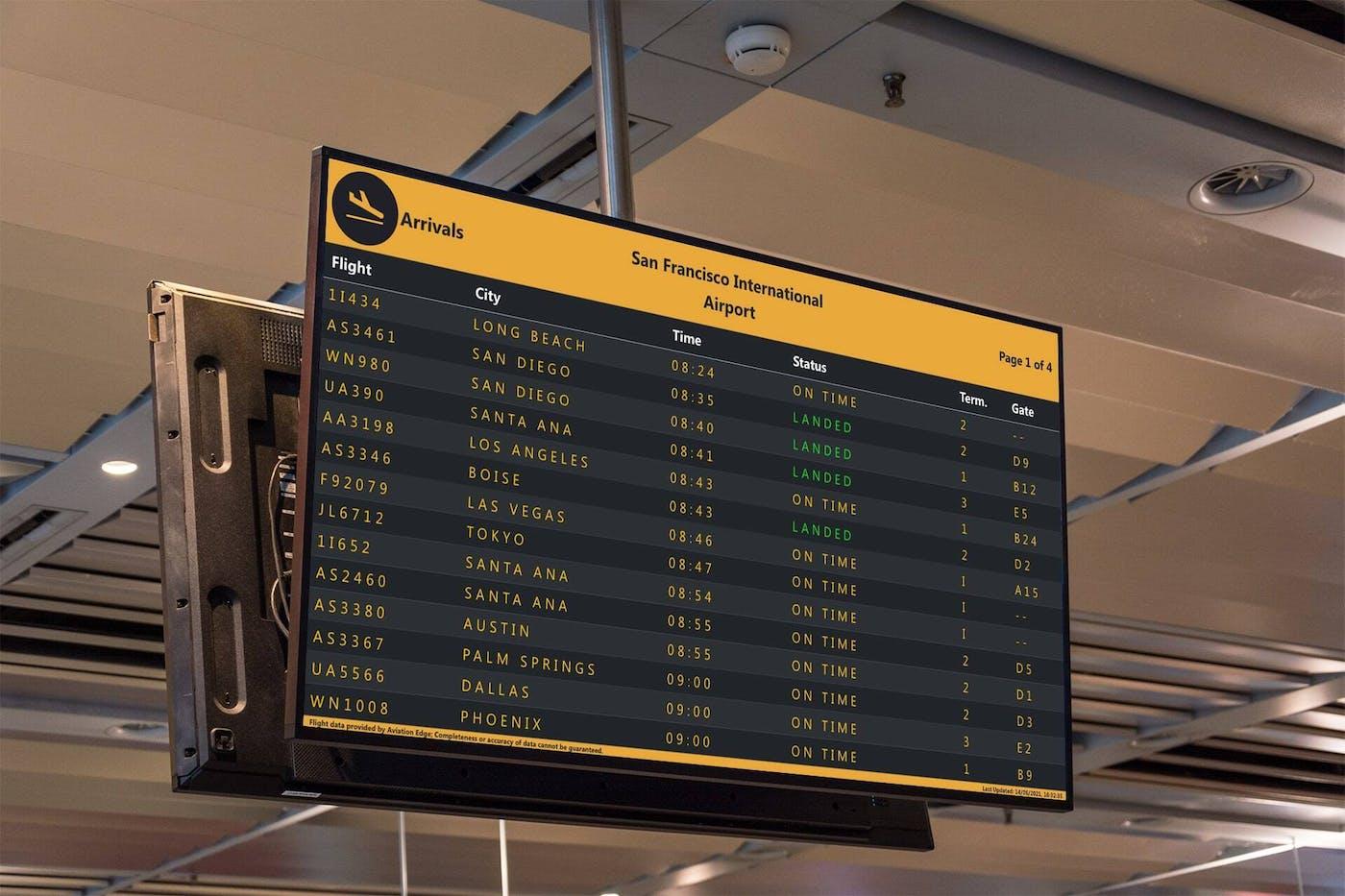 ScreenCloud Flight Schedule App Guide