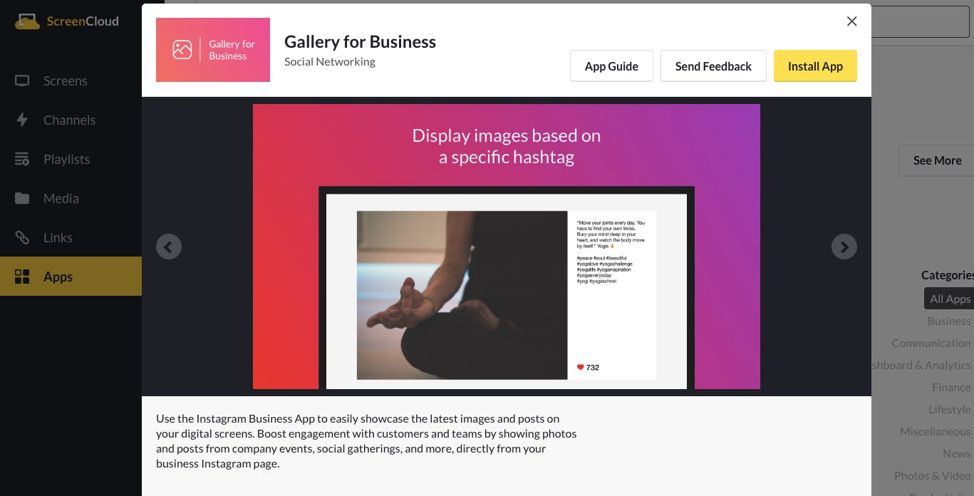 Gallery for Business app