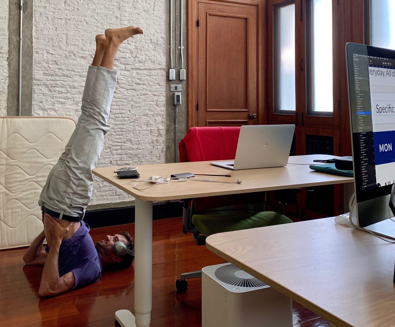 yoga in ScreenCloud Bangkok office