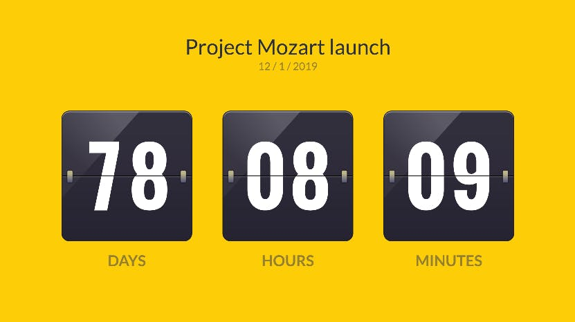 project dashboard countdown timer