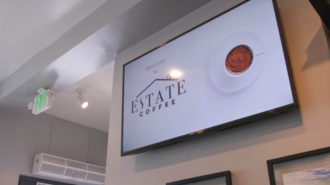 How Estate Coffee Increased Business Revenue by Advertising Products and Services Using ScreenCloud