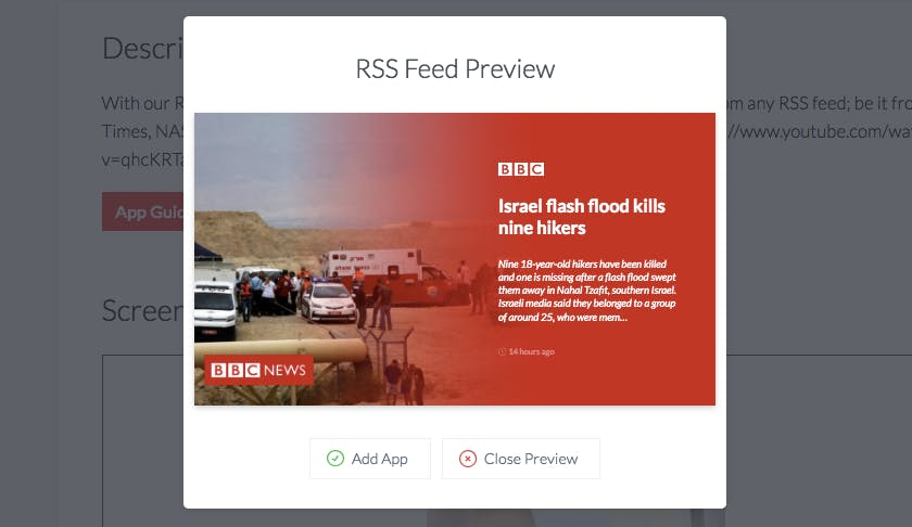 RSS app design