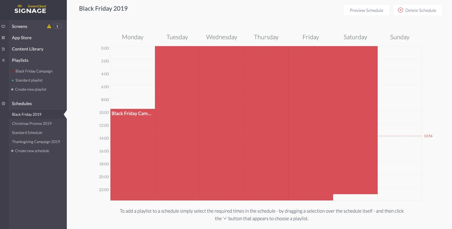 ScreenCloud scheduling