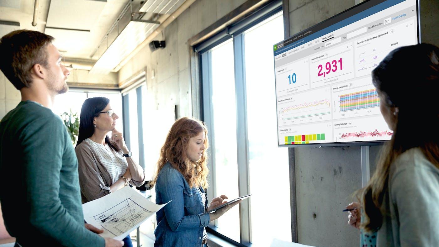 Splunk, Signal FX and ScreenCloud Dashboards: Predict, Identify & Solve