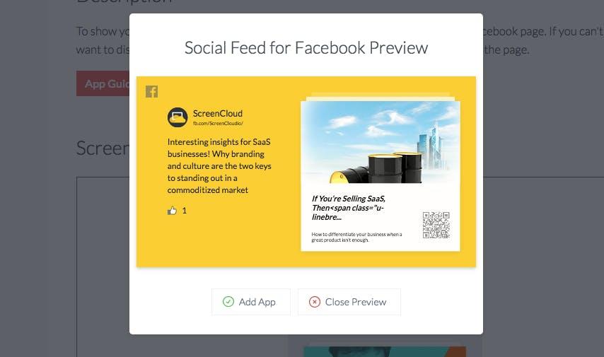 Social feed for Facebook custom theme
