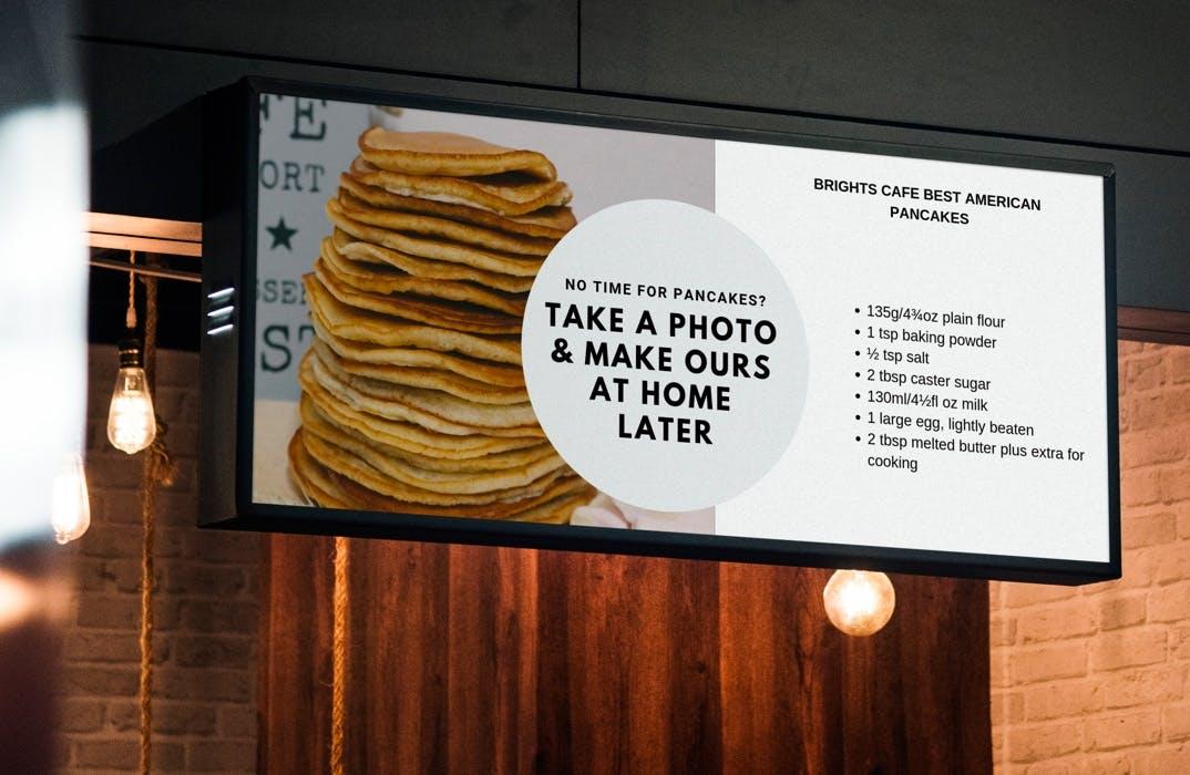 Digital signage for franchises example
