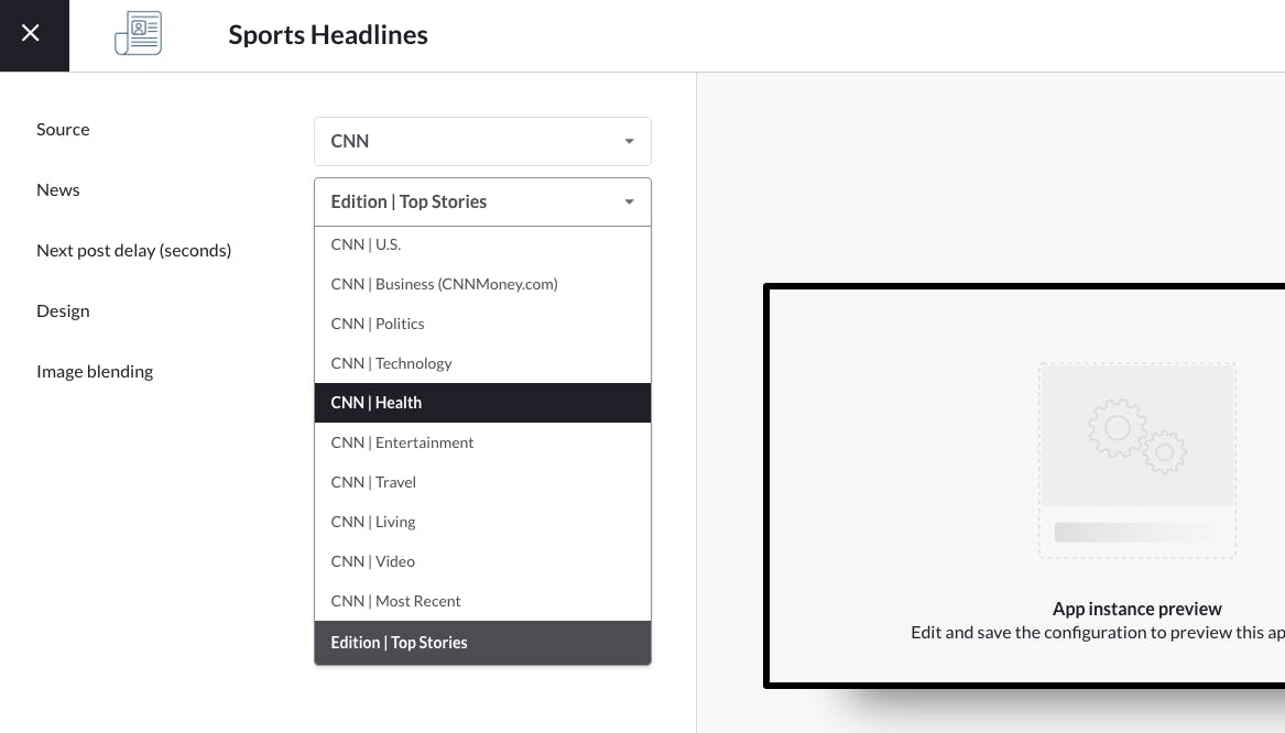 Choose a sub news source
