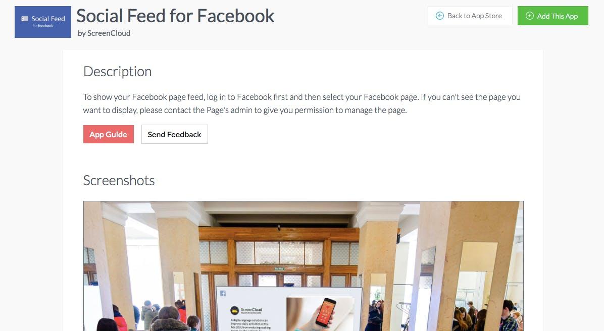 Facebook add this app