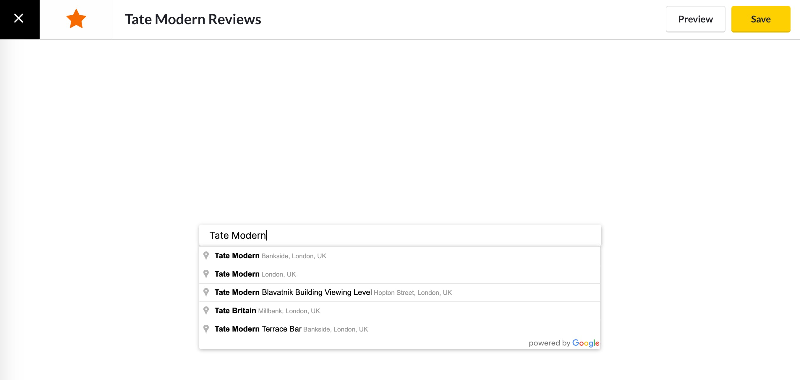 screencloud google reviews app settings