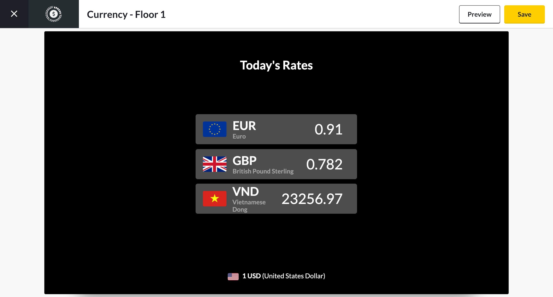 currencies app preview