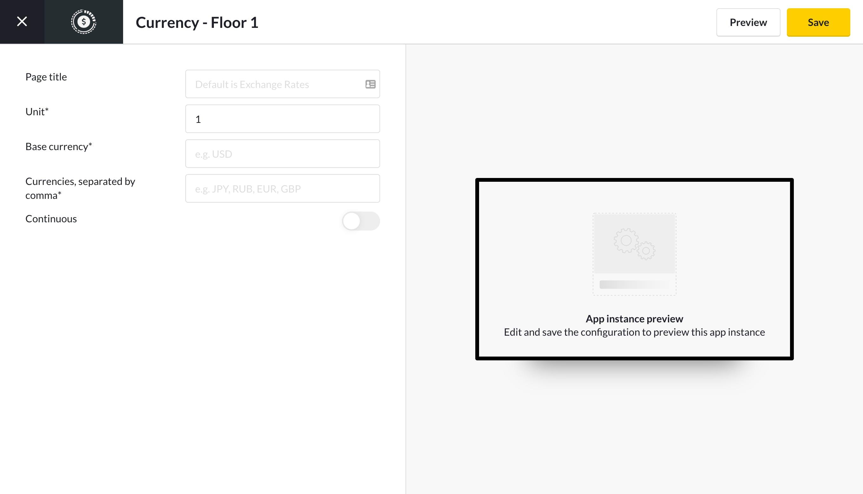 screencloud currencies app settings