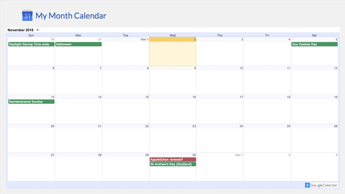 ScreenCloud Google Calendar App Guide (Legacy)