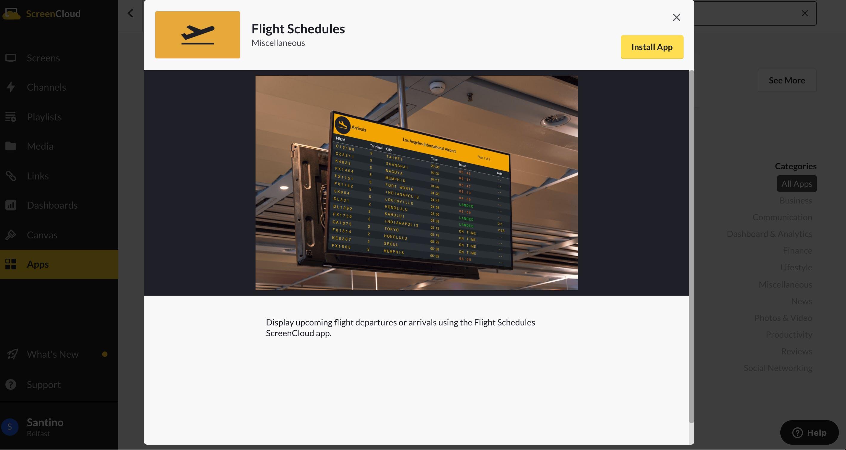 ScreenCloud Flight Schedule App Guide - Install App 5.12.2021.png