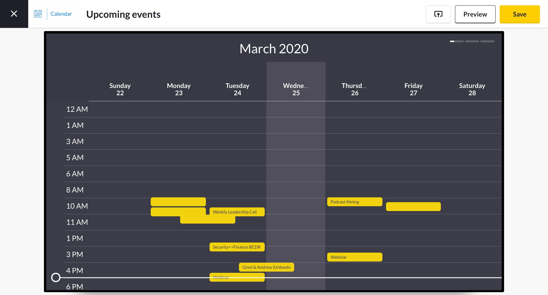 google calendar app preview