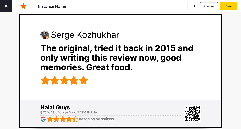 screencloud google reviews app preview