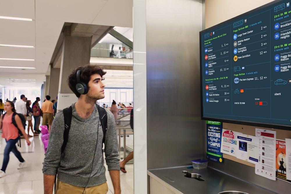 Transit screen