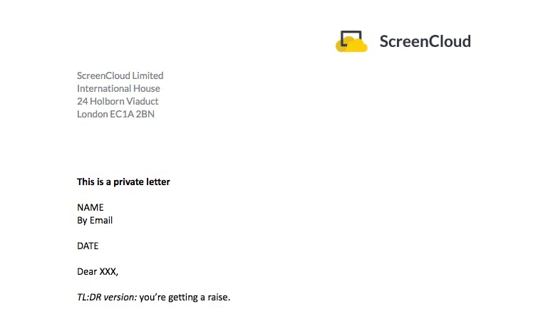ScreenCloud letter head design