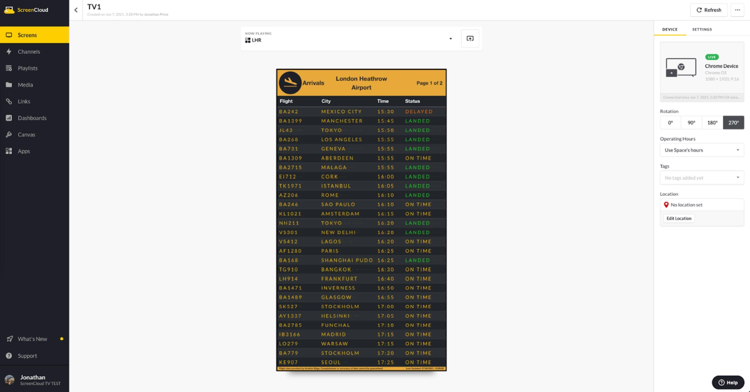 ScreenCloud Flight Schedule App Guide - Portrait Mode.png